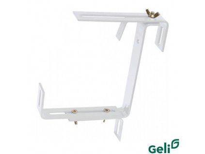 GELI® Držák truhlíku kovový, univerzální nastavitelný, bílý, sada 2 ks