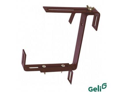 GELI® Držák truhlíku kovový, univerzální nastavitelný, hnědý, sada 2 ks