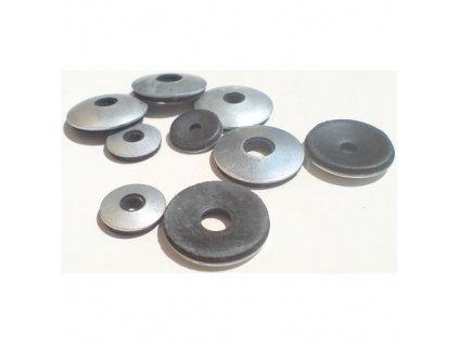 Podložky s těsnící gumou EPDM, M4 3.4/5x14 mm, ZB, balení 1500 ks