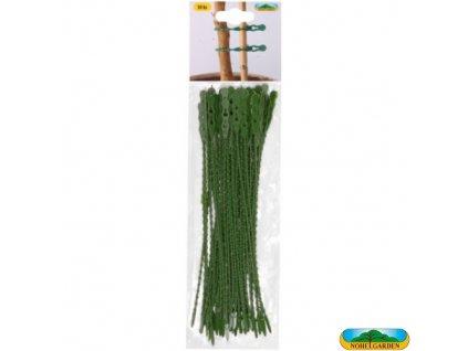 NOHEL GARDEN® Vazačka plastová, zelená, 23 cm, 50 ks