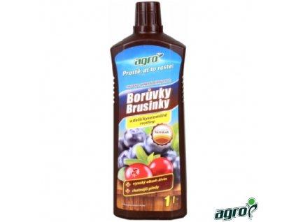AGRO® Hnojivo kapalné organo-minerální na borůvky, brusinky a další kyselomilné rostliny, 1 l