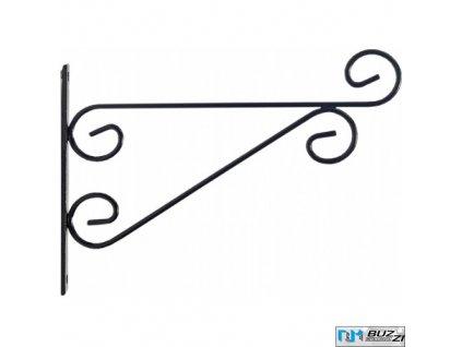 METTALURGICA BUZZI® CLASSIC Konzole dekorativní k zavěšení květináčů, černá, 29 x 20 x 2 cm