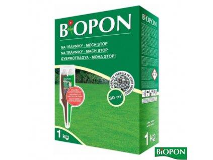 BIOPON® Hnojivo na trávník MECH STOP, 1 kg + elixír DUO zdarma