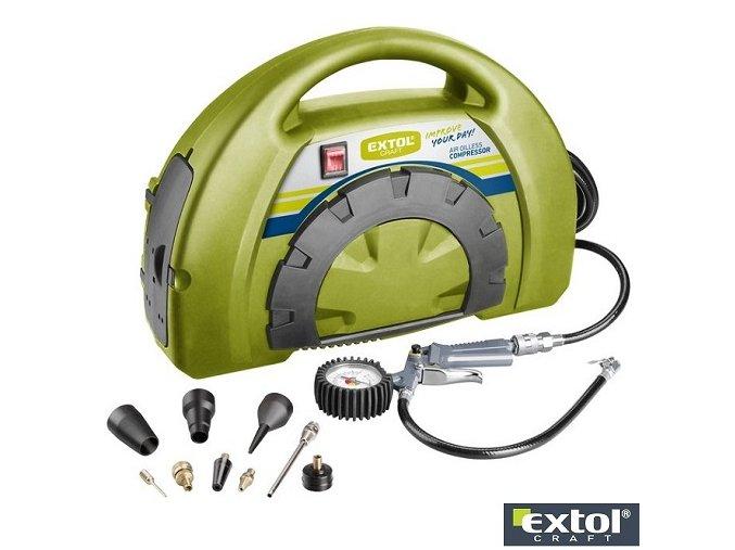 EXTOL® CRAFT 418101 Kompresor bezolejový, 1100 W, s příslušenstvím
