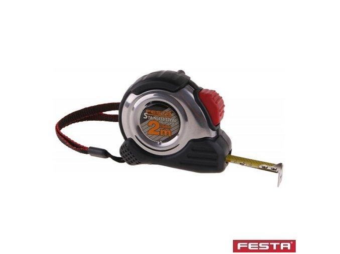 FESTA® Metr svinovací nerez, guma, délka 5 m, pásek 19 mm