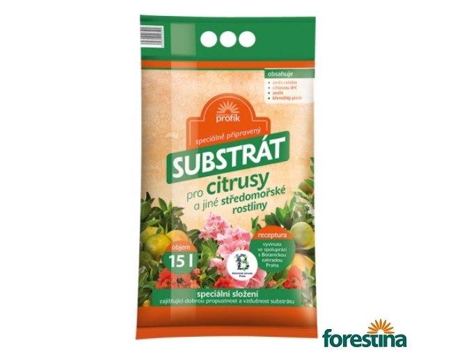 FORESTINA® PROFÍK Speciálně připravený substrát pro citrusy a jiné středomořské rostliny, 15 l
