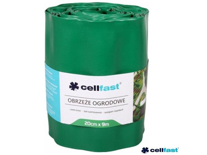 CELLFAST® Obruba plastová vlnitá, 9 m x 20 cm, zelená