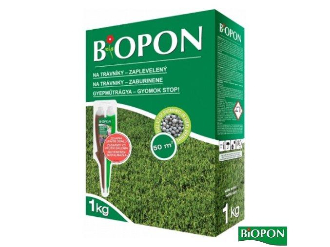 BIOPON® Hnojivo na trávník proti plevelům, 1 kg + elixír DUO zdarma