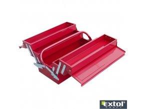 EXTOL® CRAFT Kufr na nářadí, kovový, 5 přihrádek, 400 x 200 x 195 mm