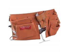 EXTOL® PREMIUM Opasek na nářadí kožený, 9 kapes