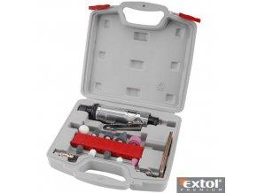 EXTOL® PREMIUM GD 170 B Pneumatická bruska přímá s brusnými nástavci, sada 16 ks, 6,3 bar