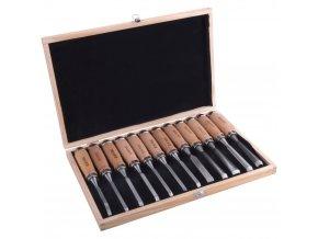 EXTOL® PREMIUM Dláta řezbářská, 200 mm, sada 12 ks
