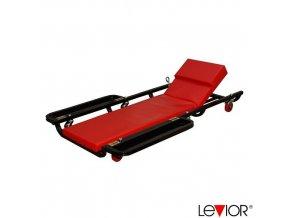 LEVIOR® Montážní lehátko pojízdné s odkládací plochou, 6 kol