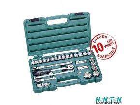 """HONITON® 17225, Gola sada 1/2"""", 27 dílů, plastový kufr"""