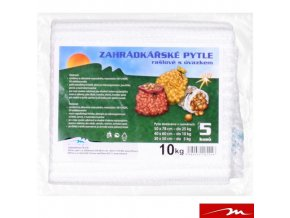MILMAR® Zahrádkářské rašlové pytle s úvazkem, 40 x 62 cm, do 10 kg, 5 ks