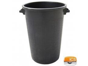 ICS® Nádoba na odpad, 75 l, černá