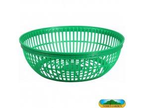 NOHEL GARDEN® Košík na cibuloviny kulatý plastový, pr. 25 x 8 cm