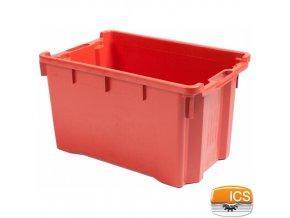 ICS® Přepravka manipulační, nosnost 30 kg, červená
