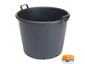 ICS® Kontejner na stromky s otvory, černý, 90 l, pr. 60 x 48 cm