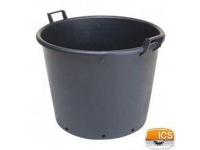 ICS® Kontejner na stromky s otvory, černý, 110 l, pr. 65 x 50 cm