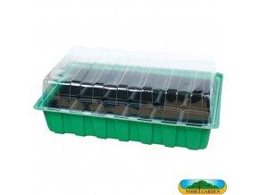 NOHEL GARDEN® 48840 Minipařeniště MINI, 18 otvorů, 36 x 22 x 12 cm, zelené