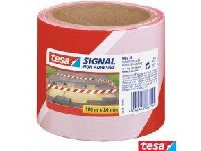 tesa® 58137 Signal Bariérová výstražná páska červenobílá