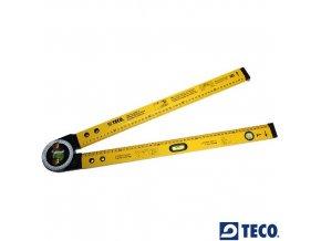 TECO® Pravítko multifunkční, 500 mm, 2 libely, úhloměr