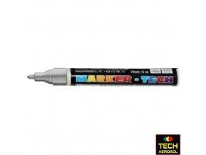 Marker tech stříbrný široký