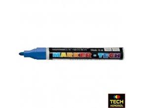 Marker tech modrý široký