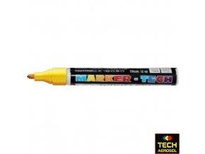 Marker tech žlutý široký