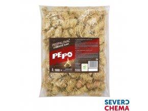 PE-PO® podpalovač z dřevité vlny, 1 kg, 100 ks