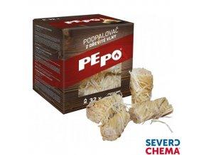 PE-PO® podpalovač z dřevité vlny, 300 g, 32 podpalů
