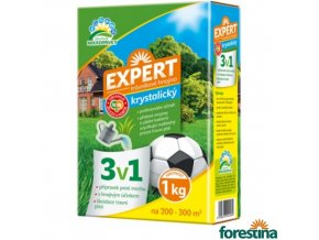 FORESTINA® EXPERT Hnojivo krystalické 3v1 na trávník, 1 kg