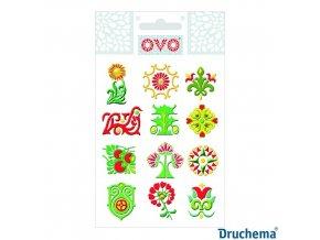 OVO Obtisky glitr ornamenty