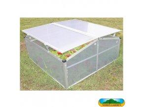 NOHEL GARDEN® Pařeniště MINI DOUBLE, 1 m2, 100 x 100 x 48/35 cm, polykarbonát