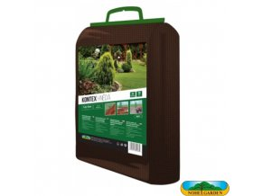 NOHEL GARDEN® 00873 KONTEX Netkaná textilie mulčovací, hnědá, 1,6 x 10 m, 50 g/m2