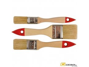 GEBOL® 402499 Sada univerzálních štětců, dřevěné lakované držadlo, 20, 30, 40 mm