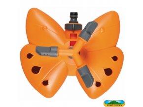 NOHEL GARDEN® 17205 Zavlažovač MOTÝL s podstavcem 3 ramenný, rotační, plast