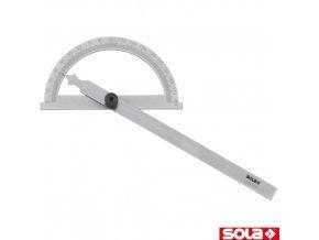 SOLA® GR Nastavitelný úhelník, ocel chromovaná, 200 x 150 mm