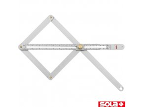 SOLA® VK Nastavitelný úhelník, hliník, 170 x 380 mm