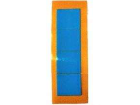 LGA 2172727 pěnové oboustranně lepicí fixační čtverečky bílé, 27 x 27 mm