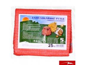 MILMAR® Zahrádkářské rašlové pytle s úvazkem, 50 x 72 cm, do 25 kg, 5 ks