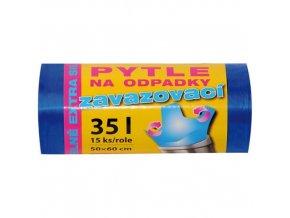 IDEAL BAG® Pytle na odpad zavazovací, 50 x 60 cm / 35 l, extra silné, 15 ks