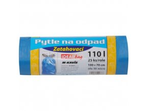 IDEAL BAG® Pytle na odpad zatahovací, 70 x 100 cm / 110 l, 50 um, 25 ks