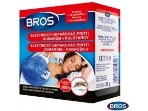 BROS Elektrický odpařovač proti komárům + 10 polštářků