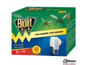 BIOLIT® Elektrický odpařovač proti komárům s náplní 27 ml na 45 nocí