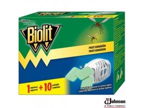 BIOLIT® Elektrický odpařovač proti komárům s 10 náhradními polštářky