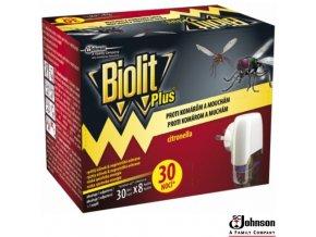 BIOLIT® PLUS Elektrický odpařovač proti komárům a mouchám s náplní 31 ml na 30 nocí