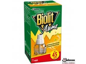 BIOLIT® Náplň do elektrického odpařovače proti komárům vůně pomeranče, 27 ml na 45 nocí