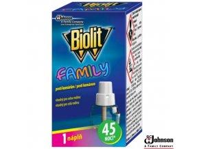 BIOLIT® FAMILY Náplň do elektrického odpařovače proti komárům 27 ml na 45 nocí